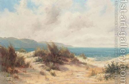 Path Through The Dunes by L. Richards - Reproduction Oil Painting