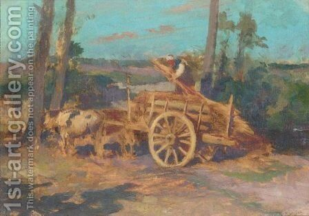 The Bullock Cart by (after) Robert Mcgregor - Reproduction Oil Painting