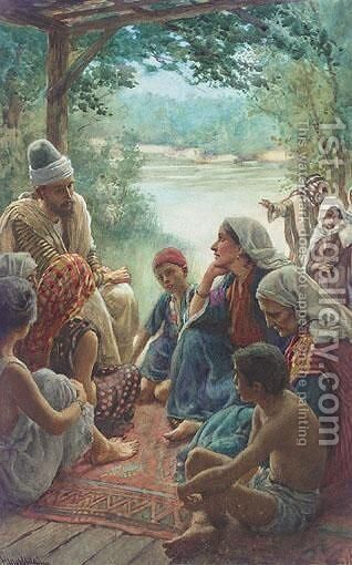 The Story-Teller by Harold Copping - Reproduction Oil Painting