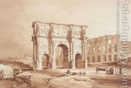 Arco Di Constantino by Achille Vianelli - Reproduction Oil Painting