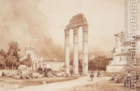 Campo Vaccino by Achille Vianelli - Reproduction Oil Painting