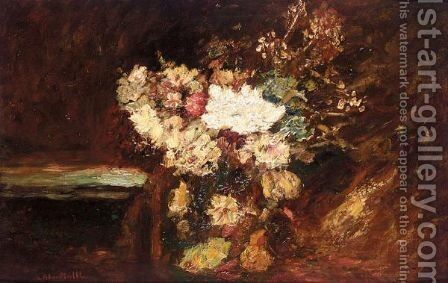 Bouquet Of Flowers 2 by Adolphe Joseph Thomas Monticelli - Reproduction Oil Painting