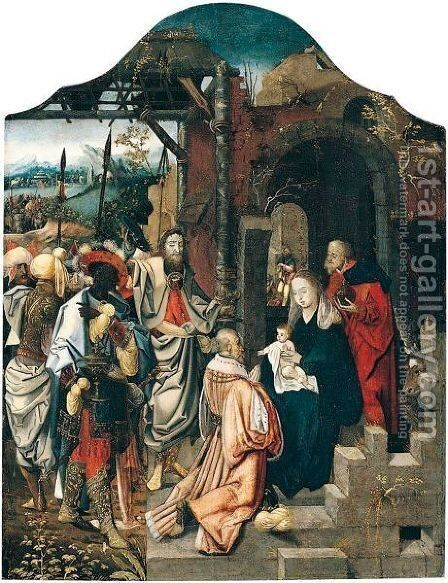 The Adoration Of The Magi by (after) Jan De Beer - Reproduction Oil Painting