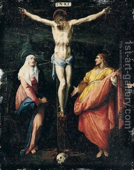 The Crucifixion by Jacopo Zucchi - Reproduction Oil Painting