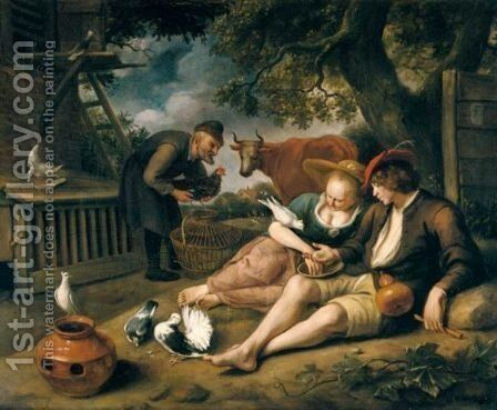 'De Duiventil' - An Allegory Of Love by Jan Steen - Reproduction Oil Painting