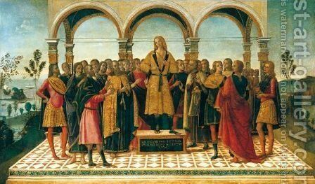 Scipio Proclaims His Candidature For Command Of The Roman Forces In Spain by Bernardino Fungai - Reproduction Oil Painting