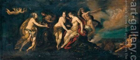 The Judgement Of Paris by Giulio Cesare Procaccini - Reproduction Oil Painting