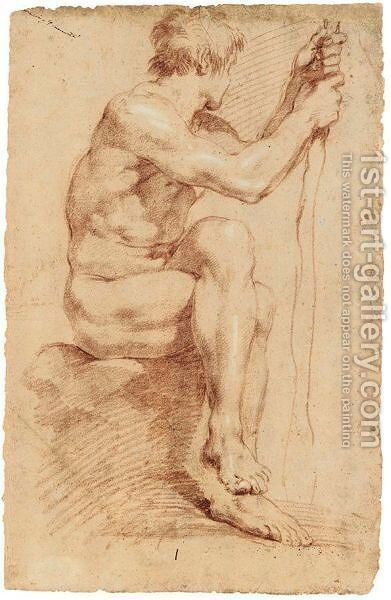 Male Academy by Annibale Carracci - Reproduction Oil Painting