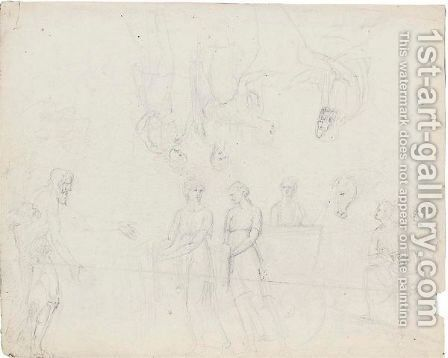 Sheet Of Studies by Antonio Canova - Reproduction Oil Painting