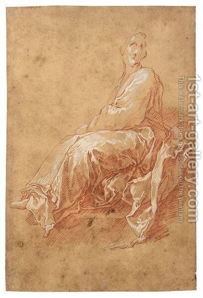 Study Of A Seated Figure by Abraham Bloemaert - Reproduction Oil Painting