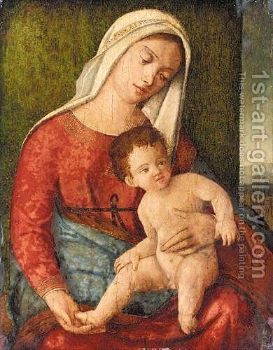 The Madonna And Child 2 by (after) Giovanni Bellini - Reproduction Oil Painting