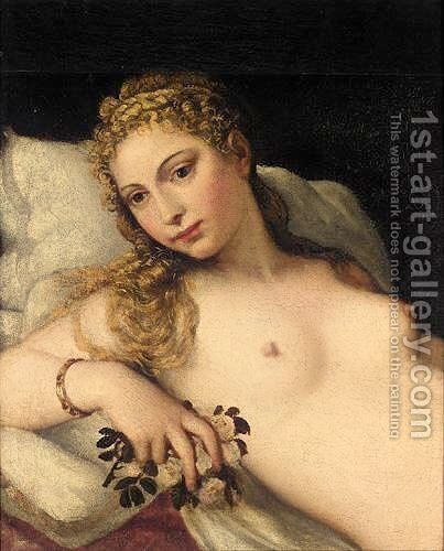 The Venus Of Urbino by (after) Tiziano Vecellio (Titian) - Reproduction Oil Painting