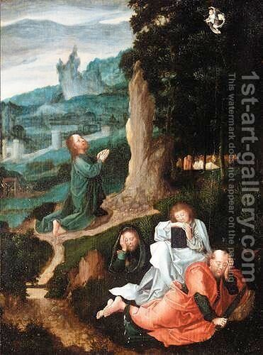 The Agony In The Garden by South Netherlandish School - Reproduction Oil Painting