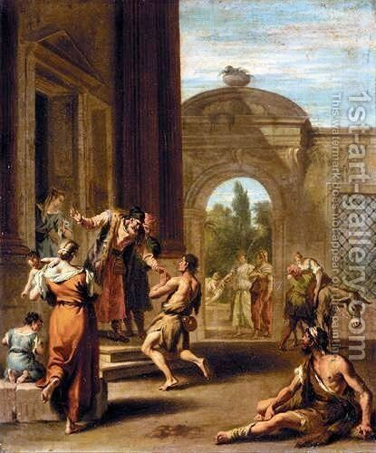 The Return Of The Prodigal Son by (after) Sebastiano Ricci - Reproduction Oil Painting
