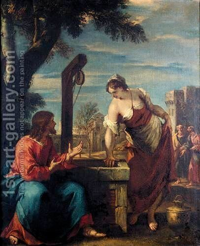 Christ And The Woman Of Samaria by (after) Sebastiano Ricci - Reproduction Oil Painting