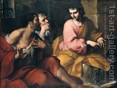 Joseph Interpreting Dreams by (after) Antonio Balestra - Reproduction Oil Painting