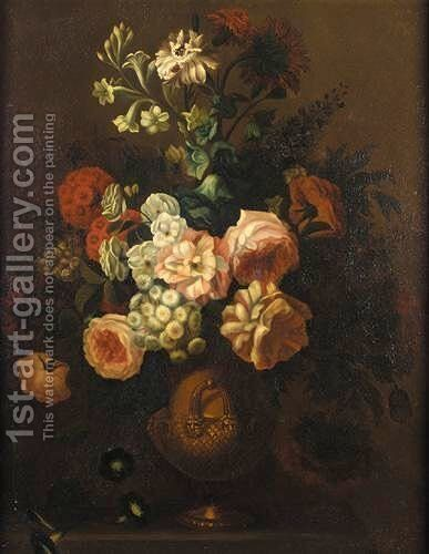 A Still Life Of Mixed Flowers by (after) Simon Hardime - Reproduction Oil Painting