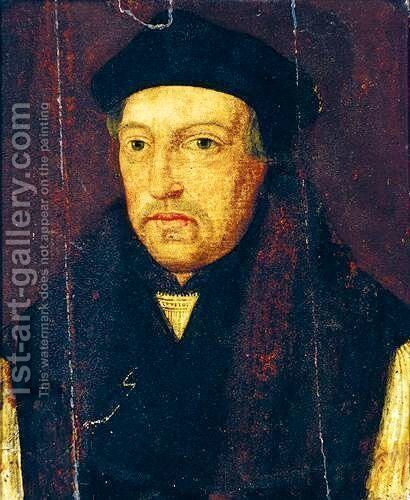 Portrait Of Thomas Cranmer by (after) Holbein the Younger, Hans - Reproduction Oil Painting