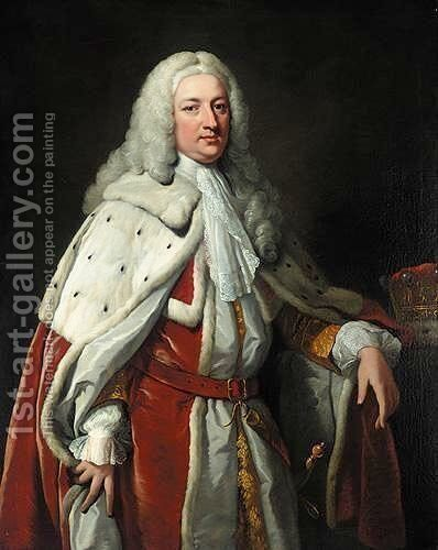 Portrait Of Francis Greville, 1st Earl Of Warwick by (after) Vanloo, Jean Baptiste - Reproduction Oil Painting