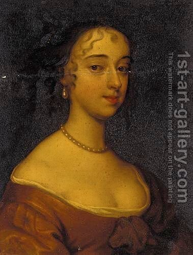 Portrait Of Frances Stuart, Duchess Of Richmond by (after) Sir Peter Lely - Reproduction Oil Painting