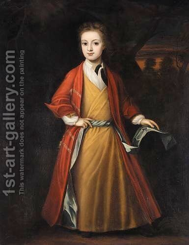 Portrait Of A Young Man by (after) Robert Byng Or Bing - Reproduction Oil Painting