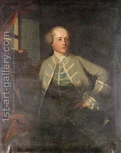 Portrait Of A Gentleman by Benjamin Wilson - Reproduction Oil Painting