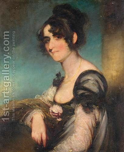 Portrait Of Mrs Tucker by (after) Thomas Hickey - Reproduction Oil Painting