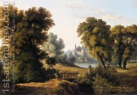The Bridge At Eton by (after) John Glover - Reproduction Oil Painting