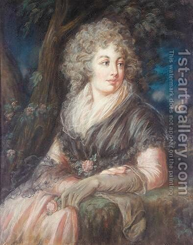 Portrait Of A Lady by (after) Russell, John - Reproduction Oil Painting