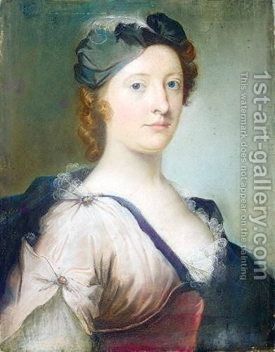 Portrait Of A Lady by (after) William Jones Of Bath - Reproduction Oil Painting