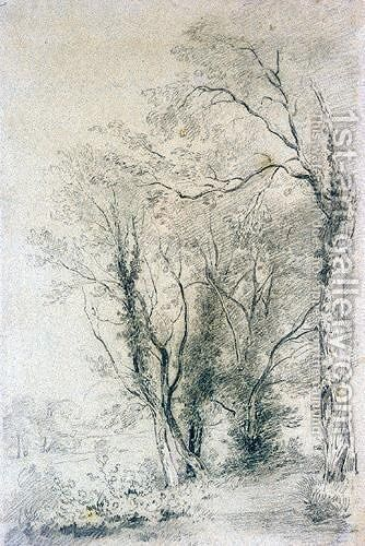 A Woodland Path by Henry Edridge - Reproduction Oil Painting