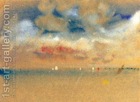 Mists On The Lagoon, Venice by Hercules Brabazon Brabazon - Reproduction Oil Painting