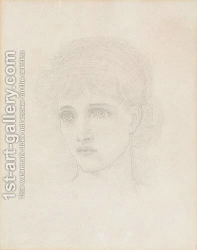 Head Of A Girl by Henry Holiday - Reproduction Oil Painting