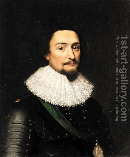 Portrait Of Frederick V Elector Palatine And King Of Bohemia (1596-1632) by (after) Michiel Jansz. Van Mierevelt - Reproduction Oil Painting