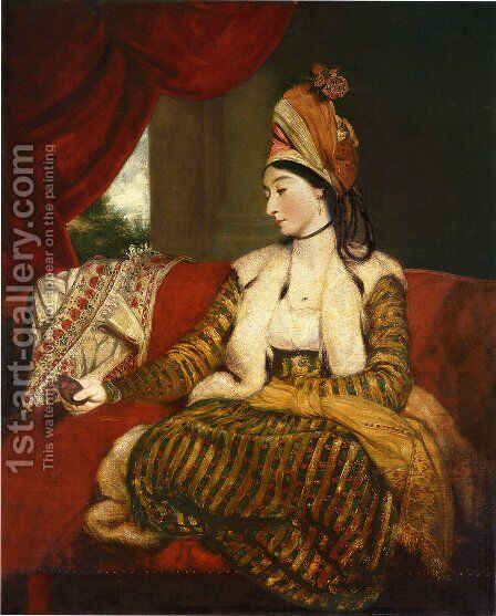 Portrait Of Mrs Baldwin (1763-1839) by Sir Joshua Reynolds - Reproduction Oil Painting