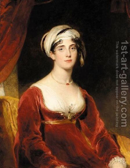 Portrait Of Anne Perry by Sir Thomas Lawrence - Reproduction Oil Painting