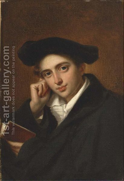 Portrait Of A Student by (after) Cornelis Kruseman - Reproduction Oil Painting