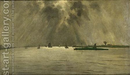 Pampus By Moonlight by Eduard Karsen - Reproduction Oil Painting