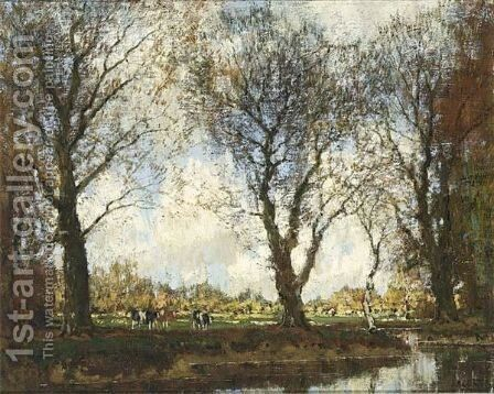 A View Of The Vordense Beek 2 by Arnold Marc Gorter - Reproduction Oil Painting