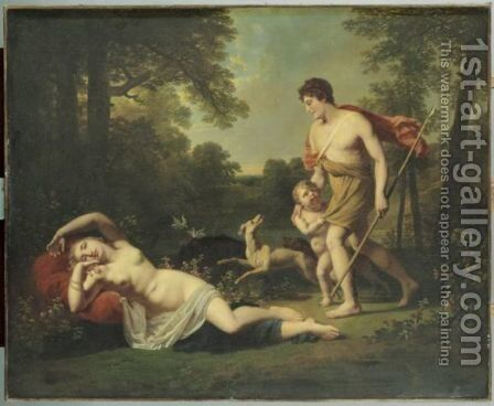 Venus Et Adonis by Jacques-Antoine Vallin - Reproduction Oil Painting