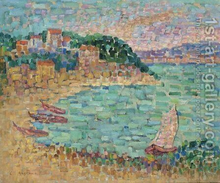 Le Petit Port by Charles Angrand - Reproduction Oil Painting