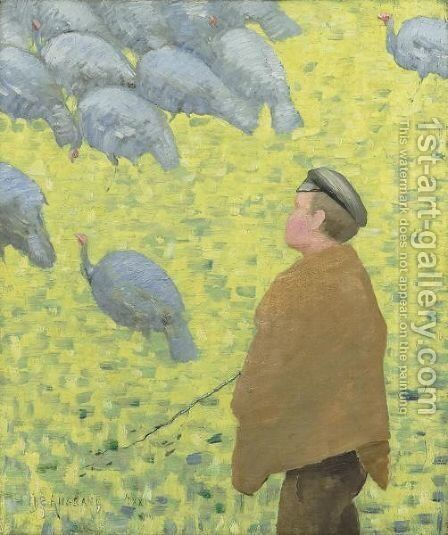 Le Gardeur De Dindons by Charles Angrand - Reproduction Oil Painting