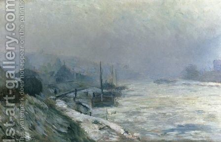 La Seine En Hiver by Albert Lebourg - Reproduction Oil Painting