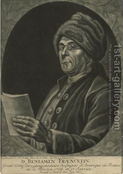 Benjamin Franklin by Charles-Nicolas II Cochin - Reproduction Oil Painting