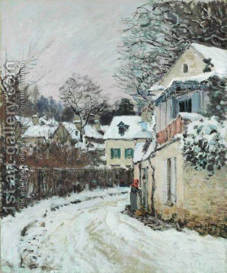 Route A Louveciennes by Alfred Sisley - Reproduction Oil Painting