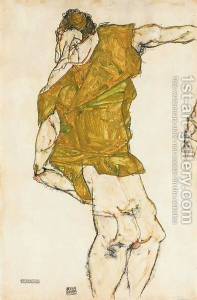 Bewegung (Movement) by Egon Schiele - Reproduction Oil Painting