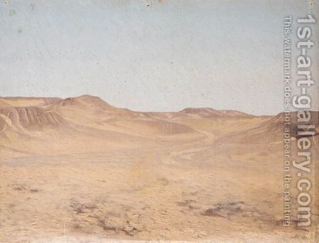 Wadi (Dry River Bed) by Jean-Léon Gérôme - Reproduction Oil Painting