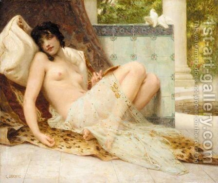 L'Odalisque Aux Colombes by Guillaume Seignac - Reproduction Oil Painting