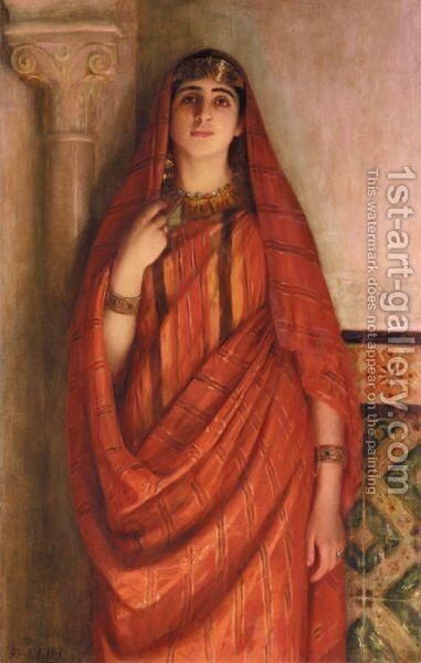 Jeune Tunisienne by Albert Aublet - Reproduction Oil Painting