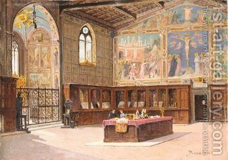 The Sacristy Of The Church Of Santa Croce, Florence by Antonietta Brandeis - Reproduction Oil Painting
